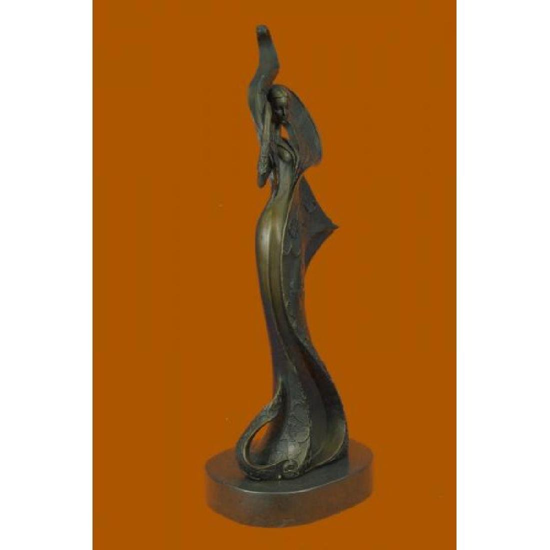 Bronze Sculpture on Marble Figurine - 4