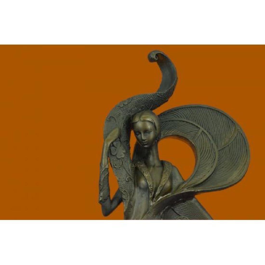Bronze Sculpture on Marble Figurine - 5
