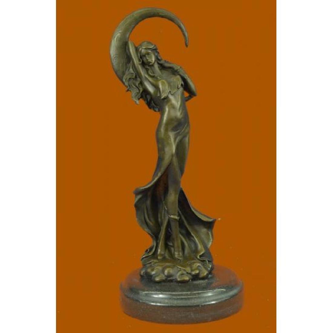 Venus Under the Moon Bronze Statue
