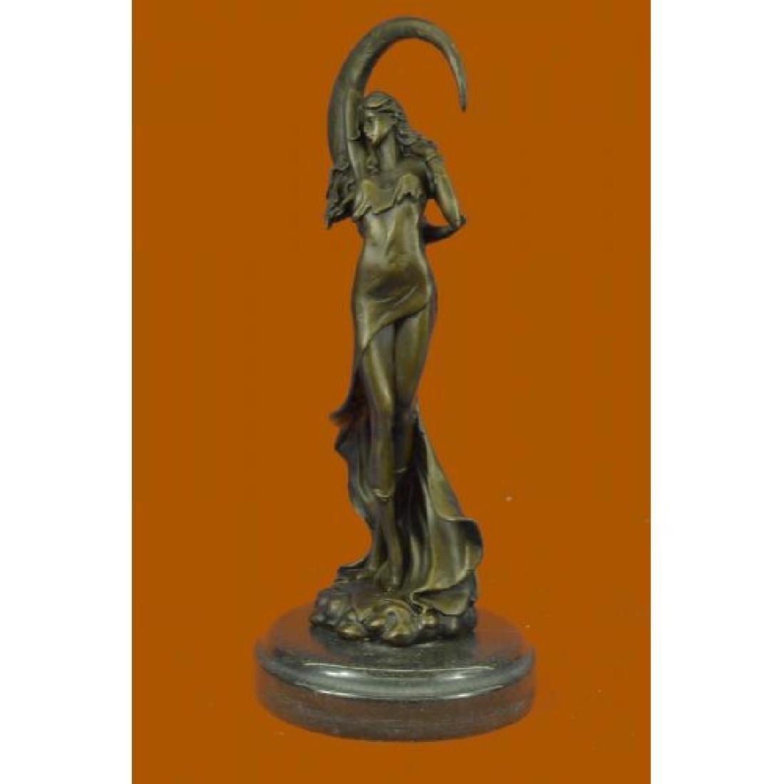 Venus Under the Moon Bronze Statue - 2