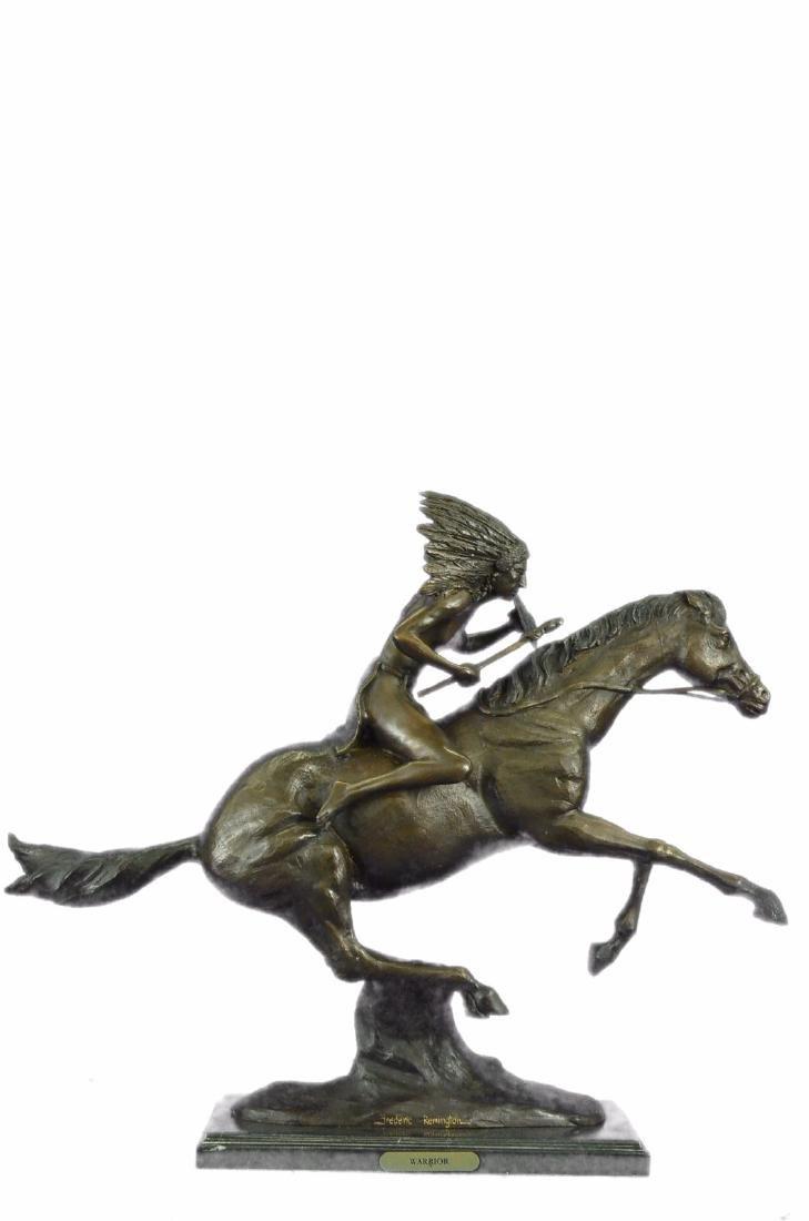 American Indian Warrior Bronze Statue