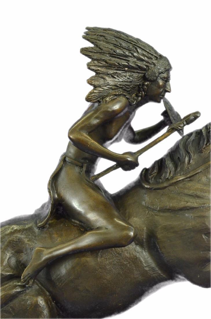 American Indian Warrior Bronze Statue - 4