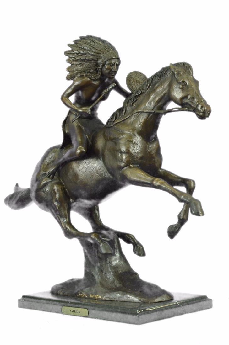 American Indian Warrior Bronze Statue - 5