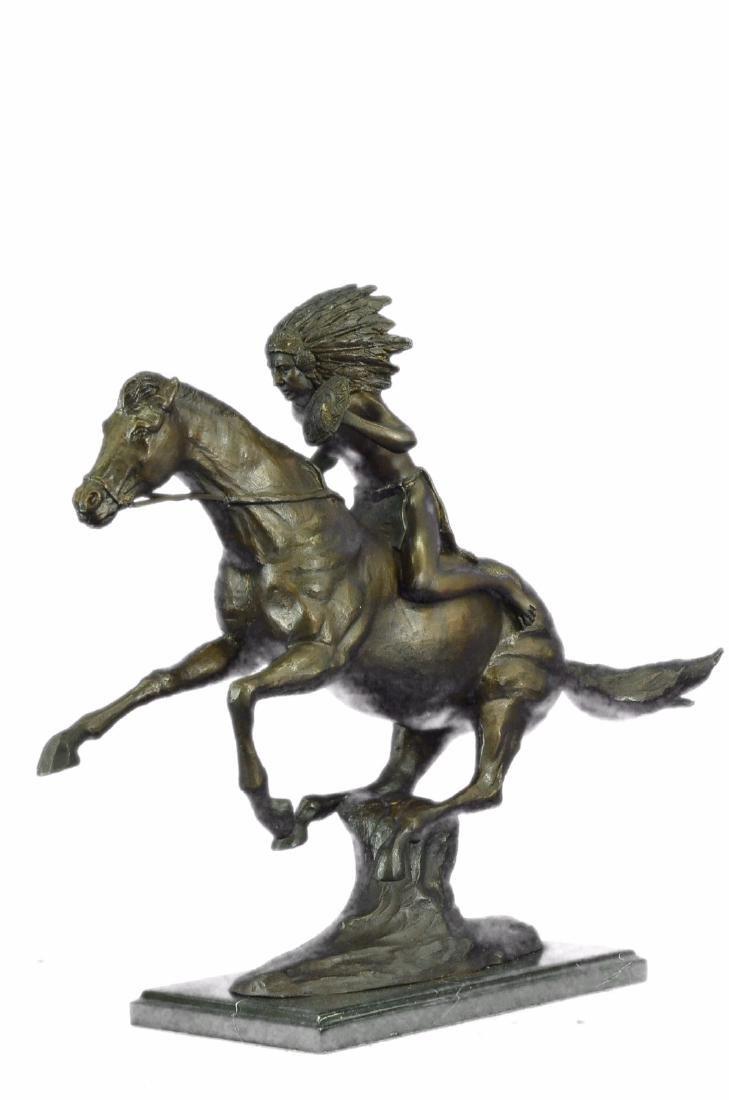 American Indian Warrior Bronze Statue - 6
