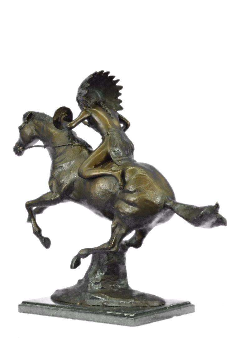 American Indian Warrior Bronze Statue - 7
