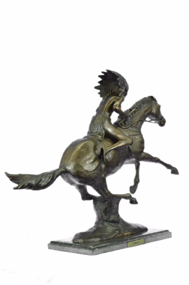 American Indian Warrior Bronze Statue - 8