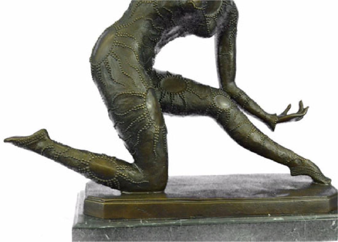 Exotic Dancer Bronze Sculpture on Marble Base Statue - 3