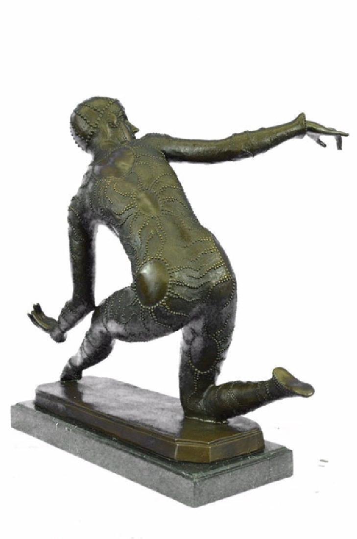 Exotic Dancer Bronze Sculpture on Marble Base Statue - 7
