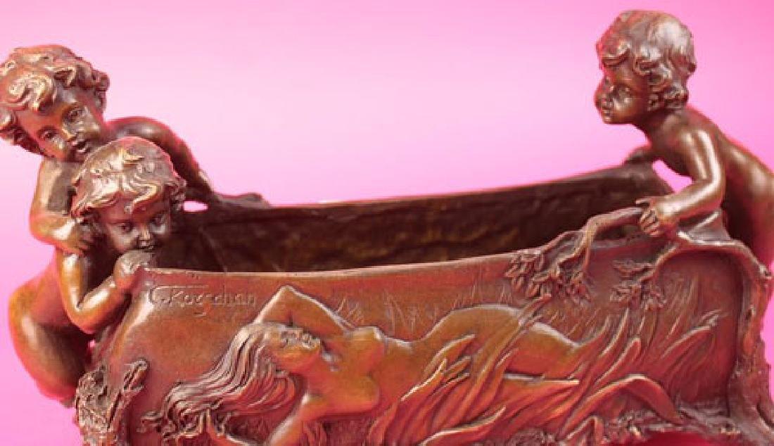 Candy Dish Boys Bronze Sculpture - 4