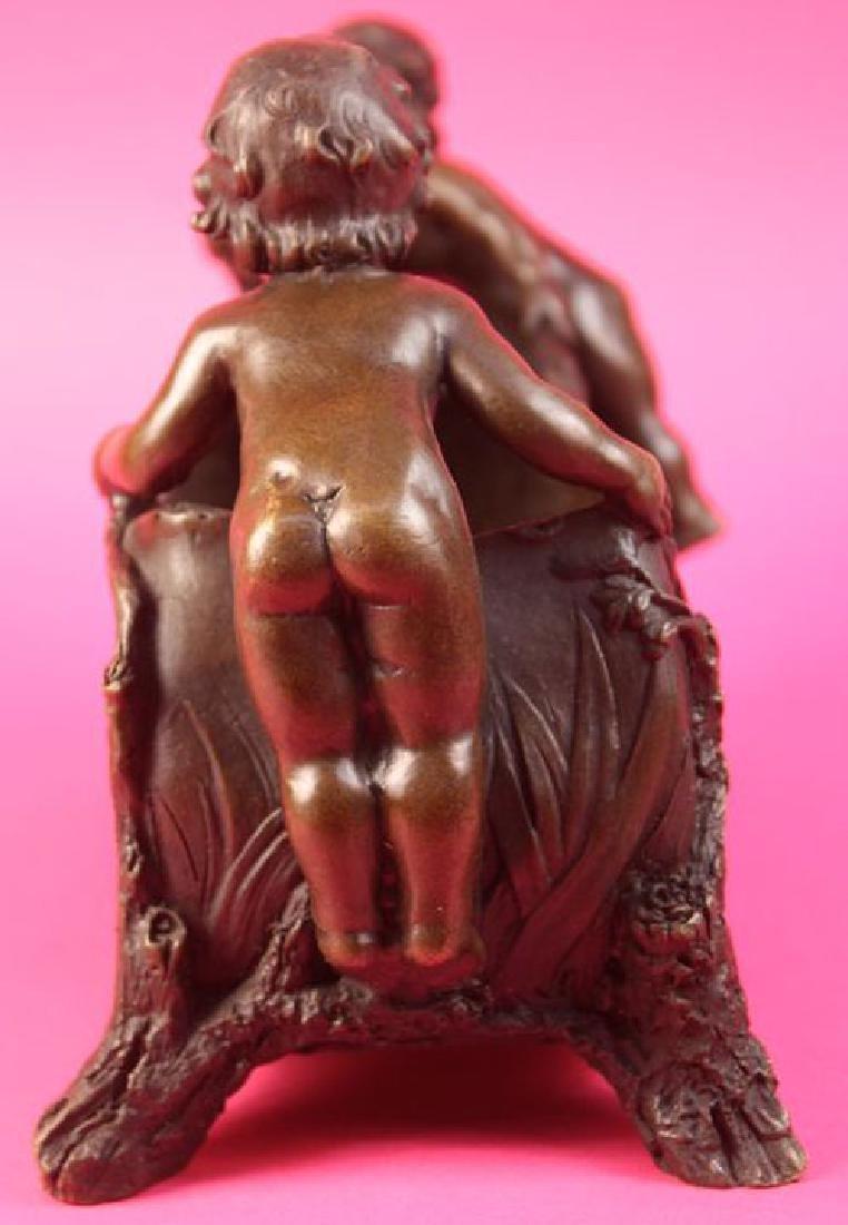 Candy Dish Boys Bronze Sculpture - 6
