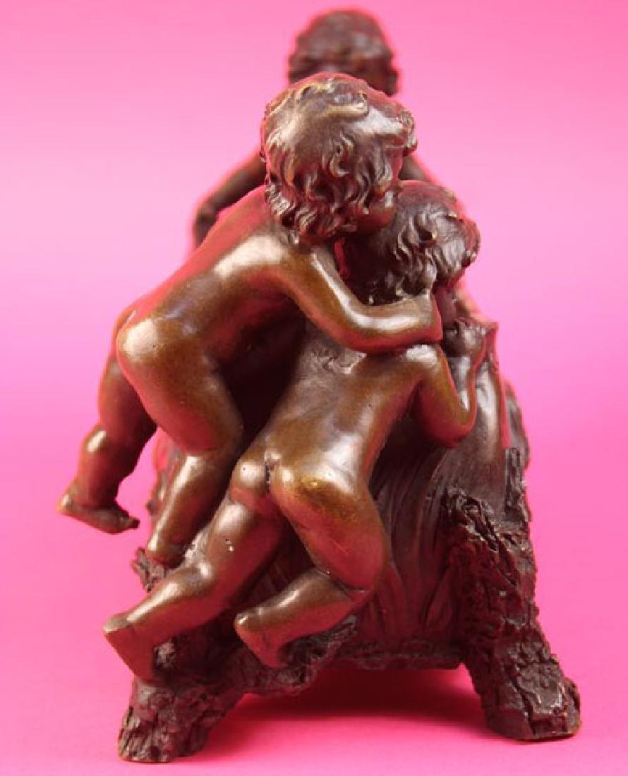 Candy Dish Boys Bronze Sculpture - 7