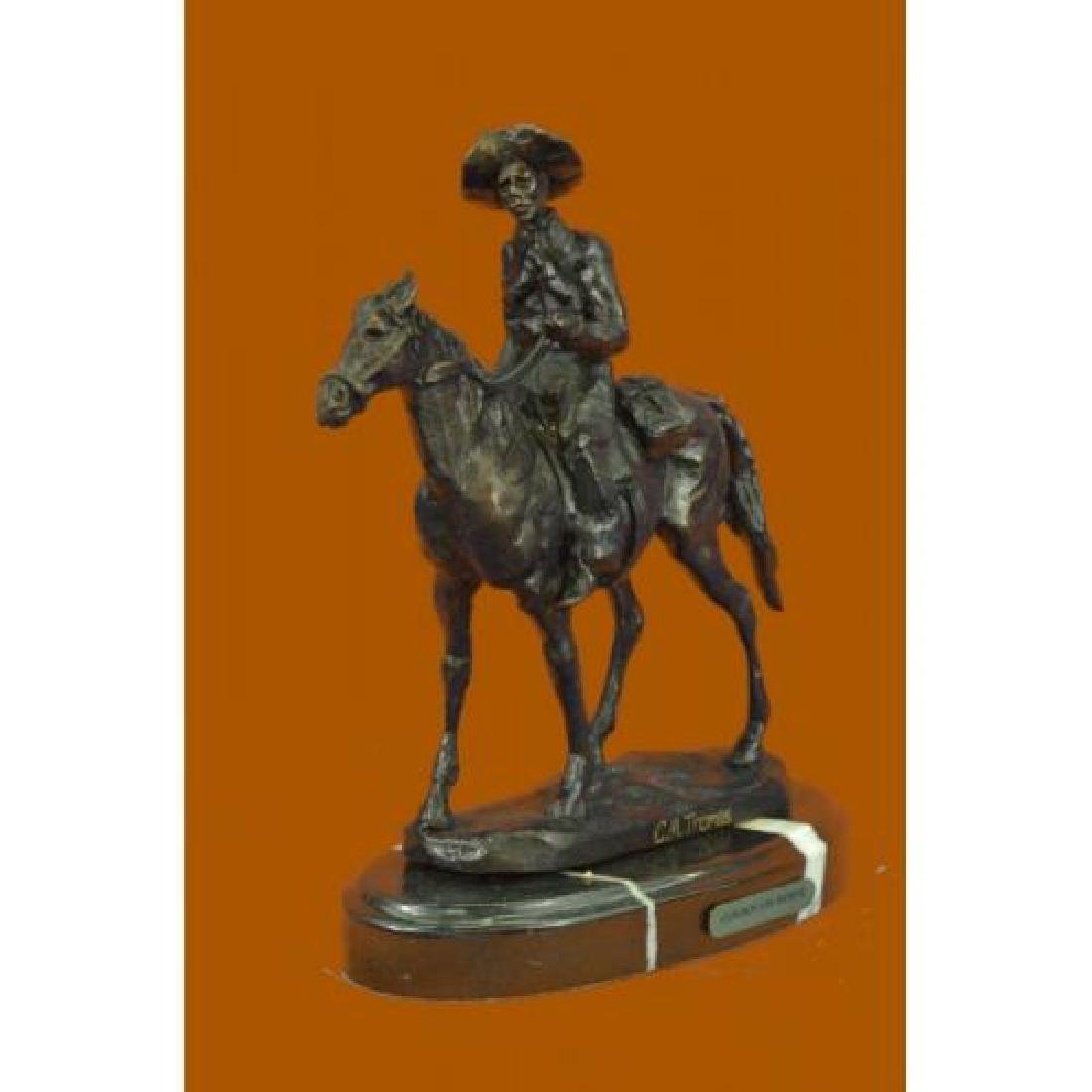 Rogers Bronze Statue on Marble Base Sculpture - 2