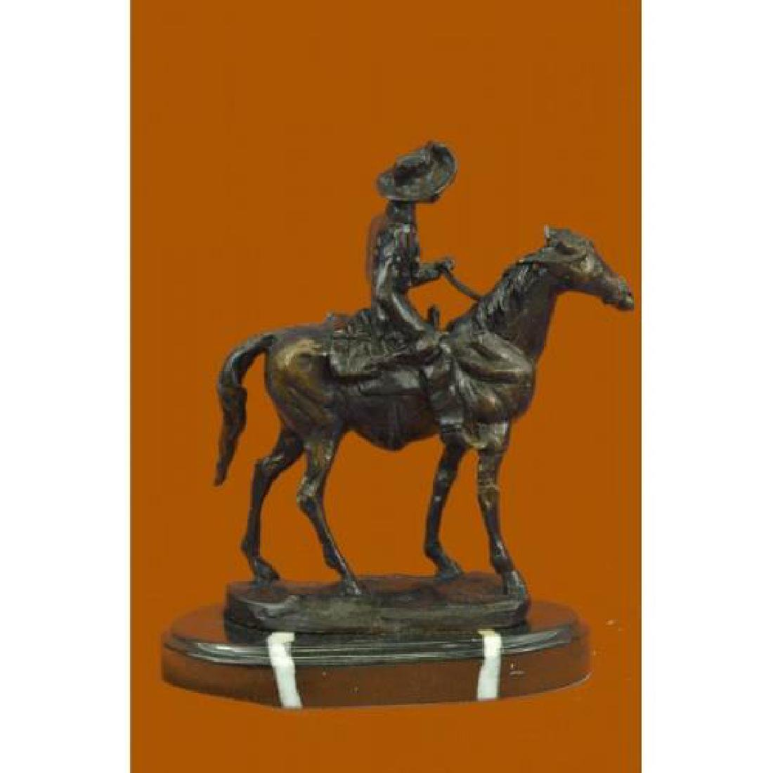 Rogers Bronze Statue on Marble Base Sculpture - 3