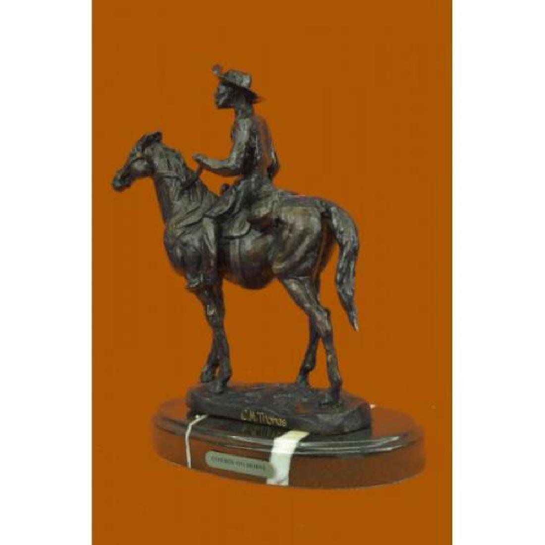 Rogers Bronze Statue on Marble Base Sculpture - 4