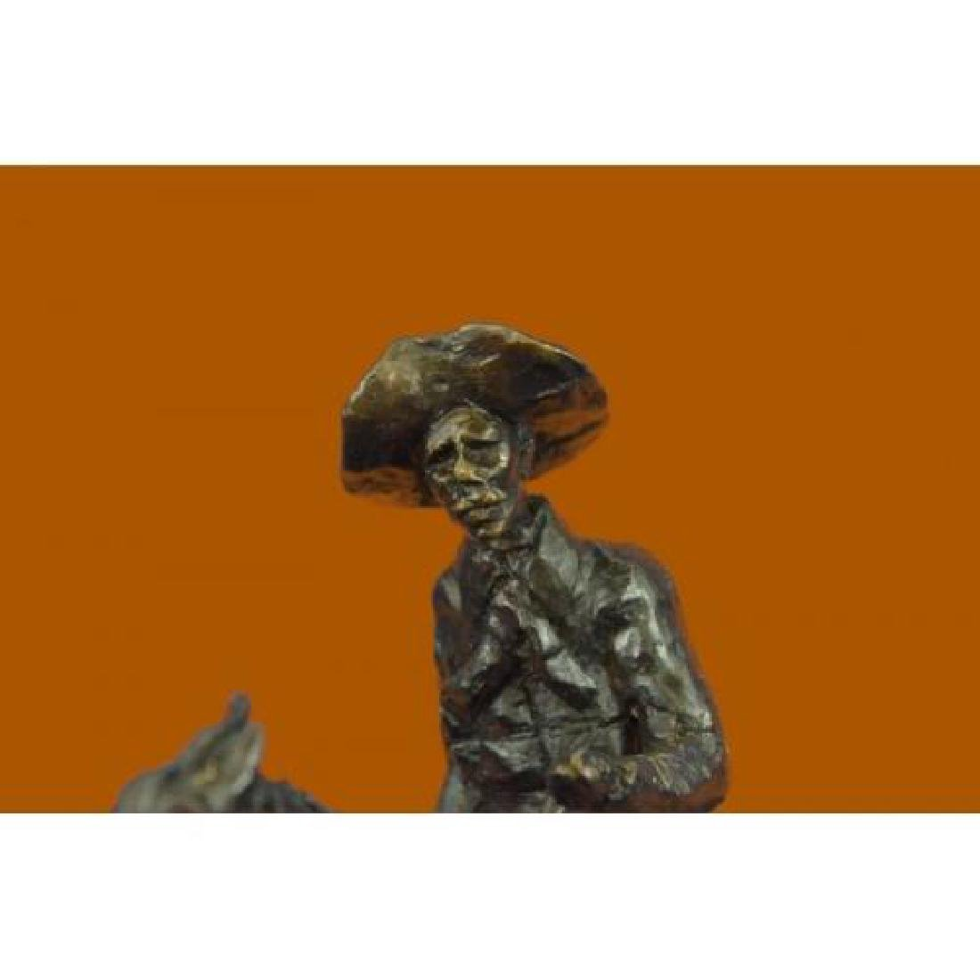Rogers Bronze Statue on Marble Base Sculpture - 5
