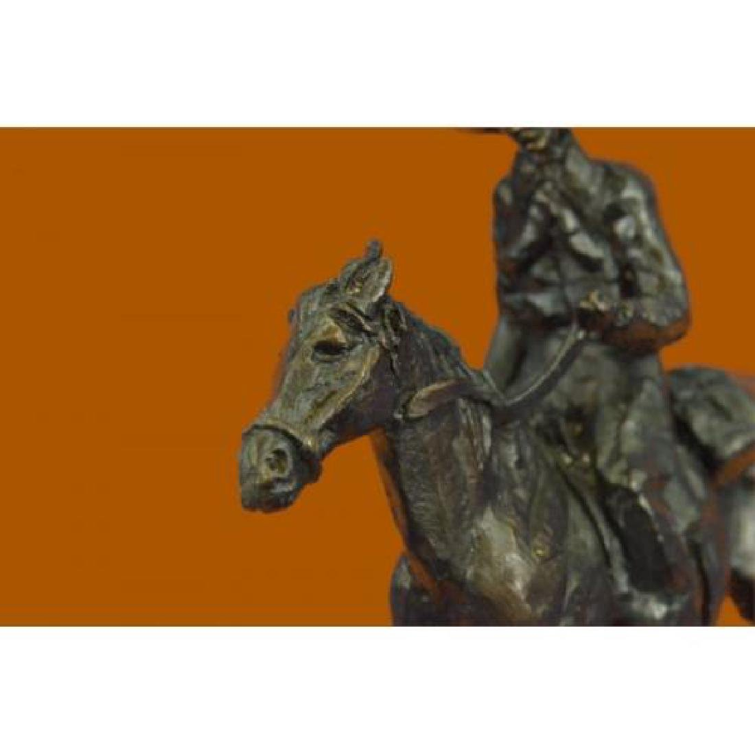 Rogers Bronze Statue on Marble Base Sculpture - 6
