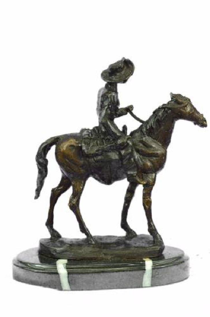 Rogers Bronze Statue on Marble Base Sculpture - 7