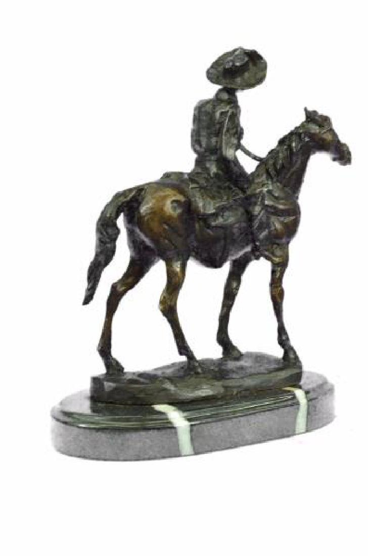 Rogers Bronze Statue on Marble Base Sculpture - 8