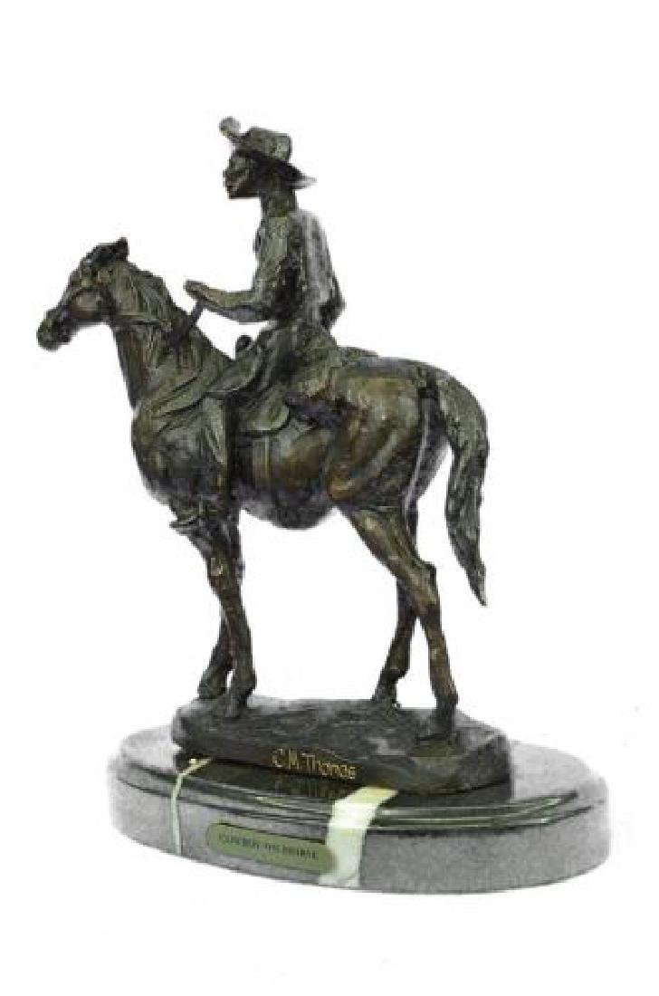 Rogers Bronze Statue on Marble Base Sculpture - 9
