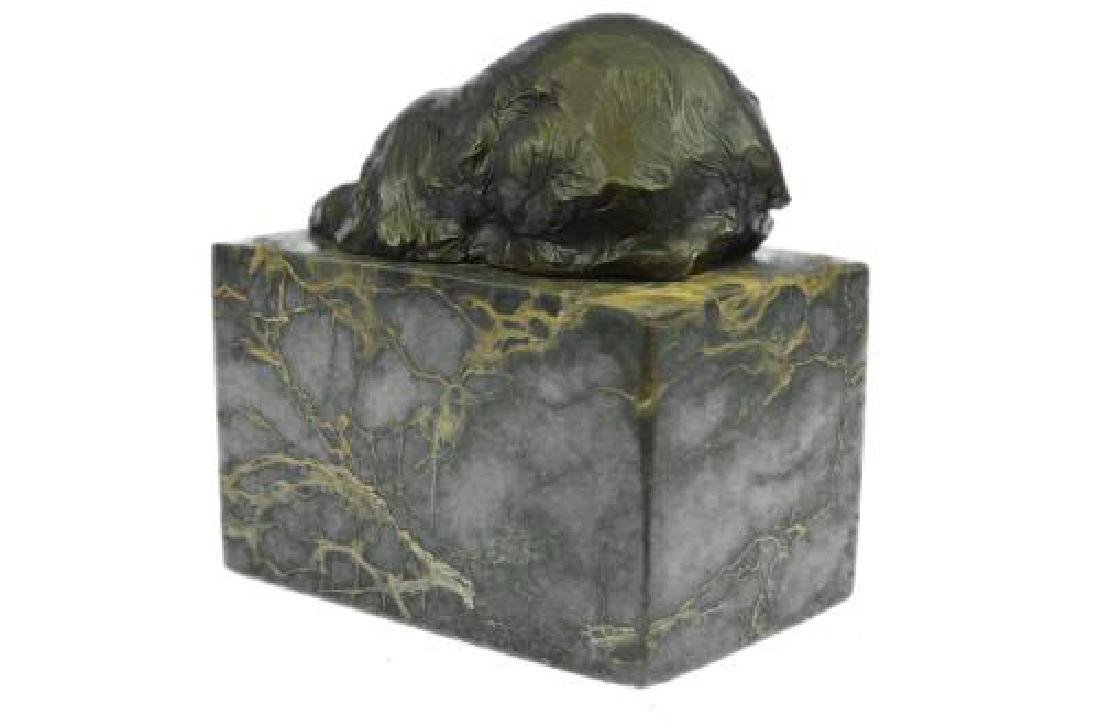 Polar Bear Bronze Sculpture on Marble Base Sculpture - 8