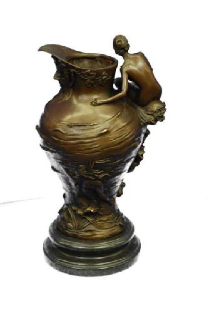 Royal Lion Griffin King Statue Fantasy Bronze Vase - 6