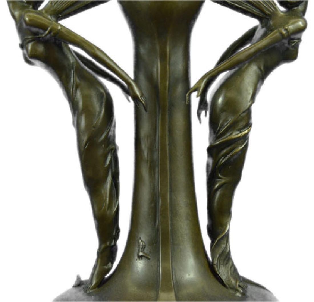 French Bronze Eximous Belle Vase Statue - 3
