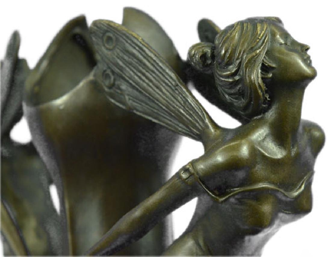 French Bronze Eximous Belle Vase Statue - 4