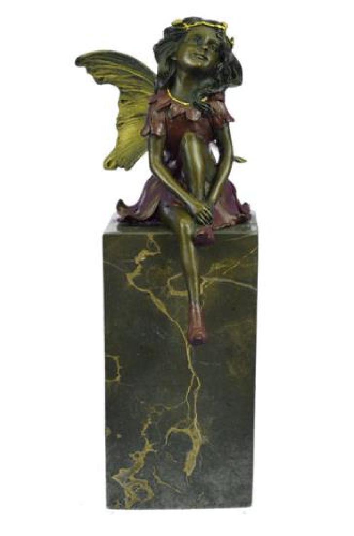 Butterfly Girl Angel Bronze Sculpture