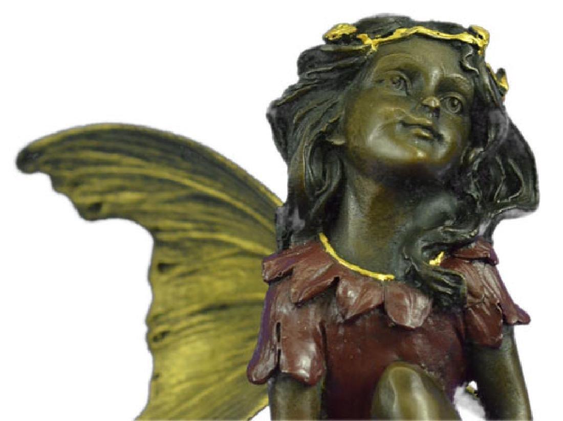 Butterfly Girl Angel Bronze Sculpture - 2