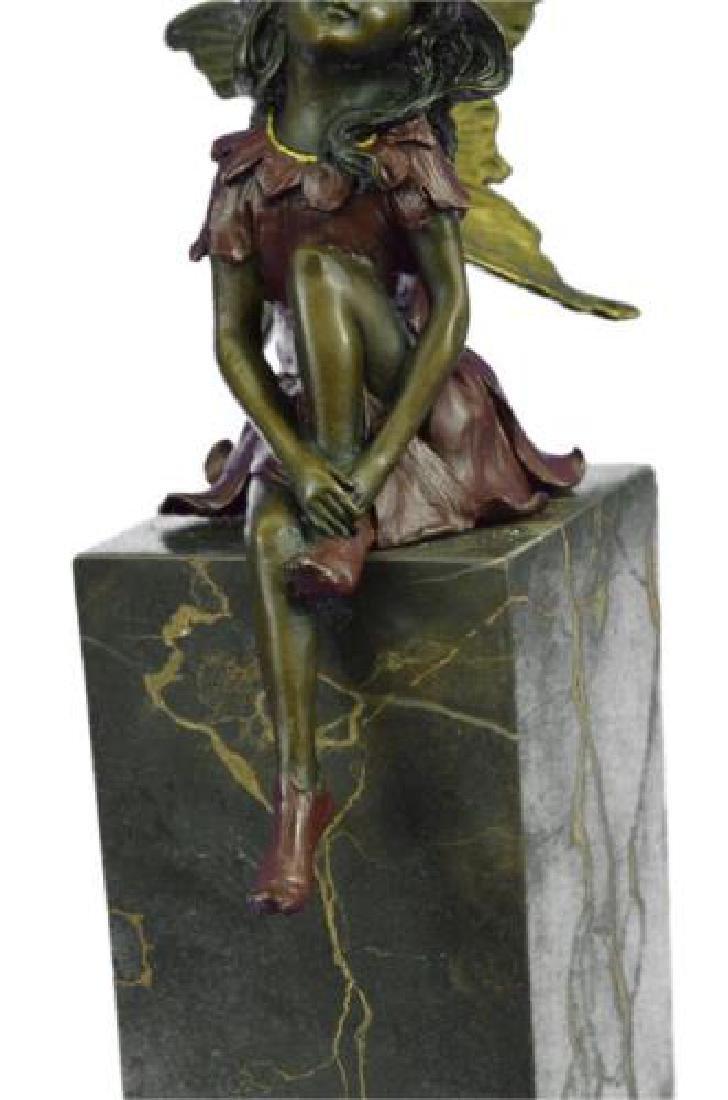 Butterfly Girl Angel Bronze Sculpture - 3