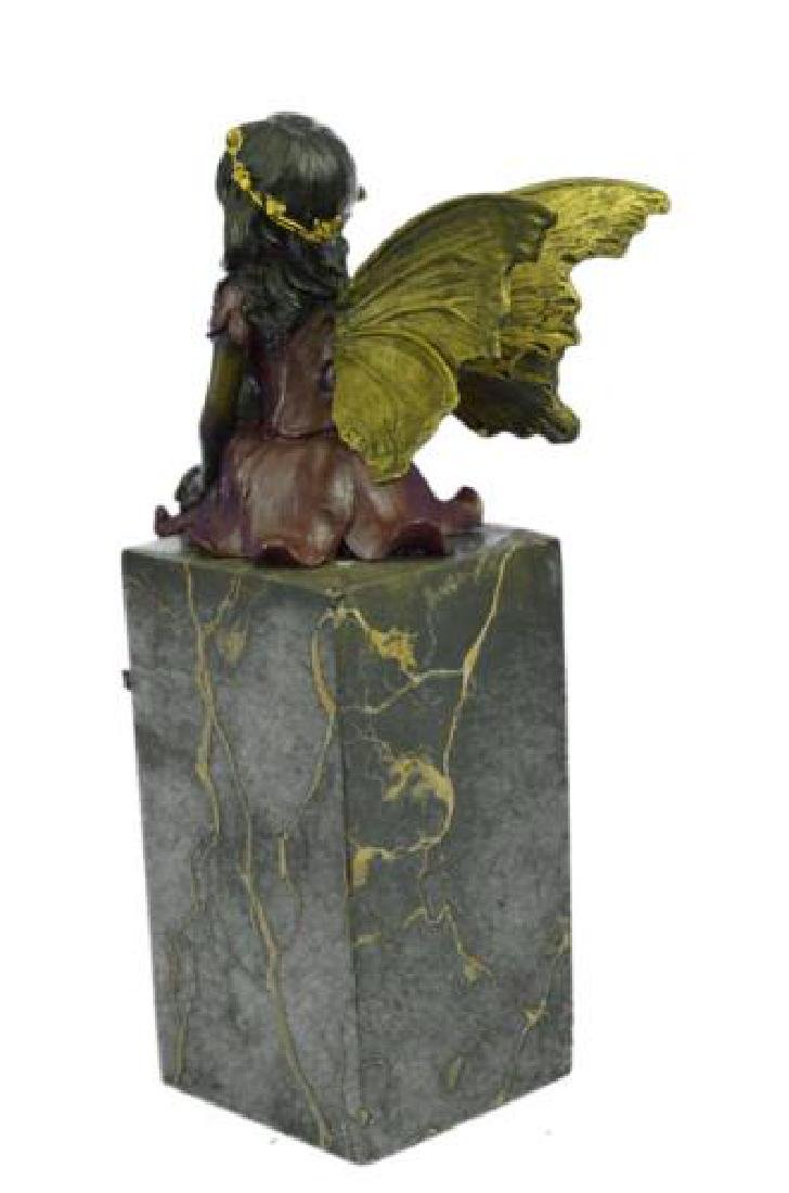 Butterfly Girl Angel Bronze Sculpture - 6