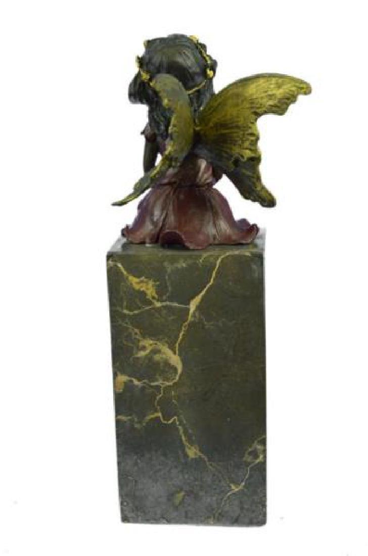Butterfly Girl Angel Bronze Sculpture - 7