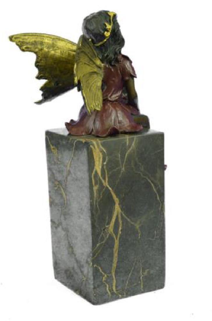 Butterfly Girl Angel Bronze Sculpture - 8