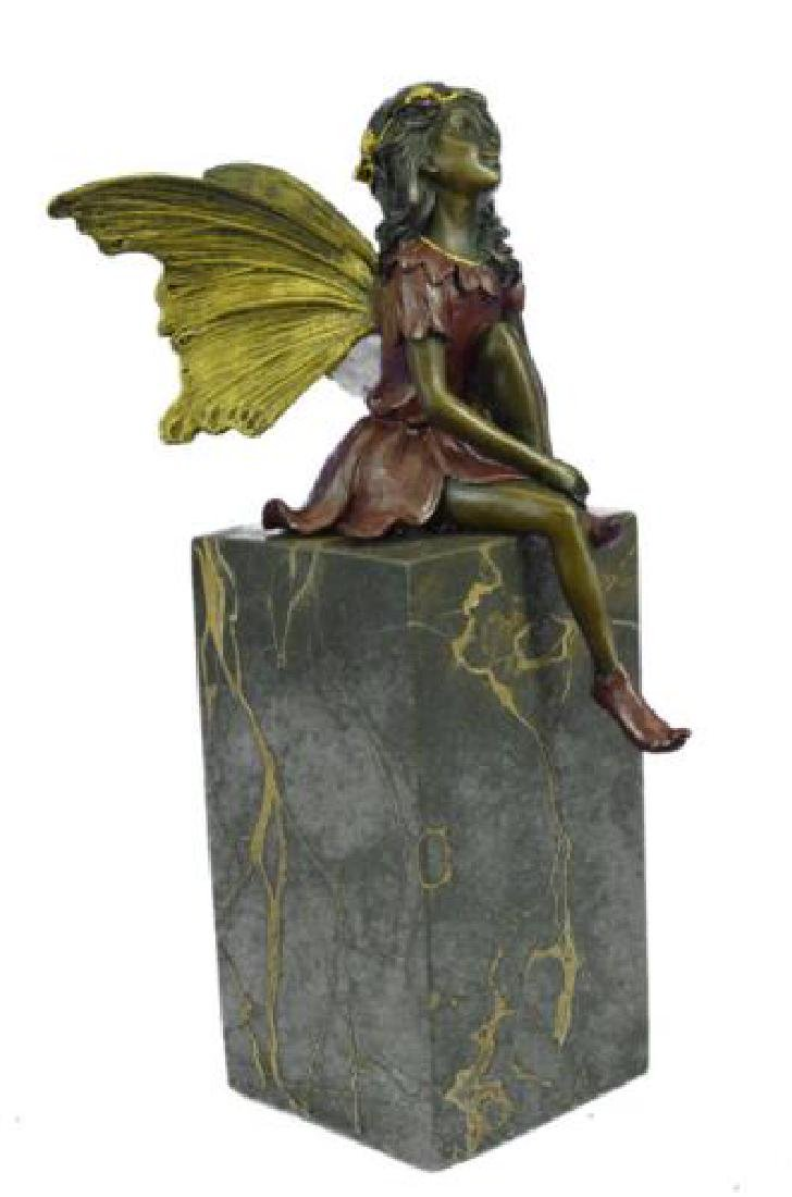 Butterfly Girl Angel Bronze Sculpture - 9