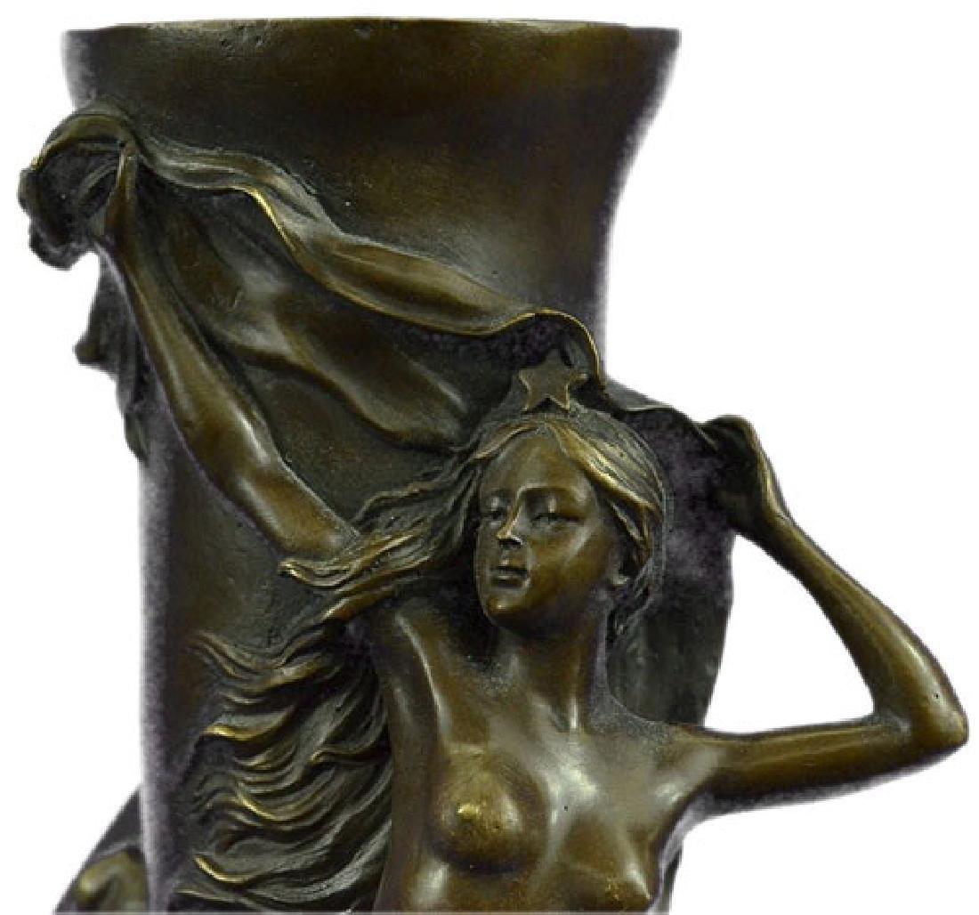 Nude Vase Bronze Sculpture - 2