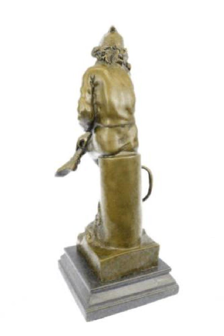 Beautiful Bronze Statue on Marble Base Sculpture - 7