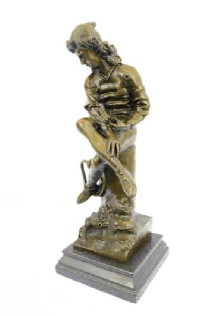 Beautiful Bronze Statue on Marble Base Sculpture - 9