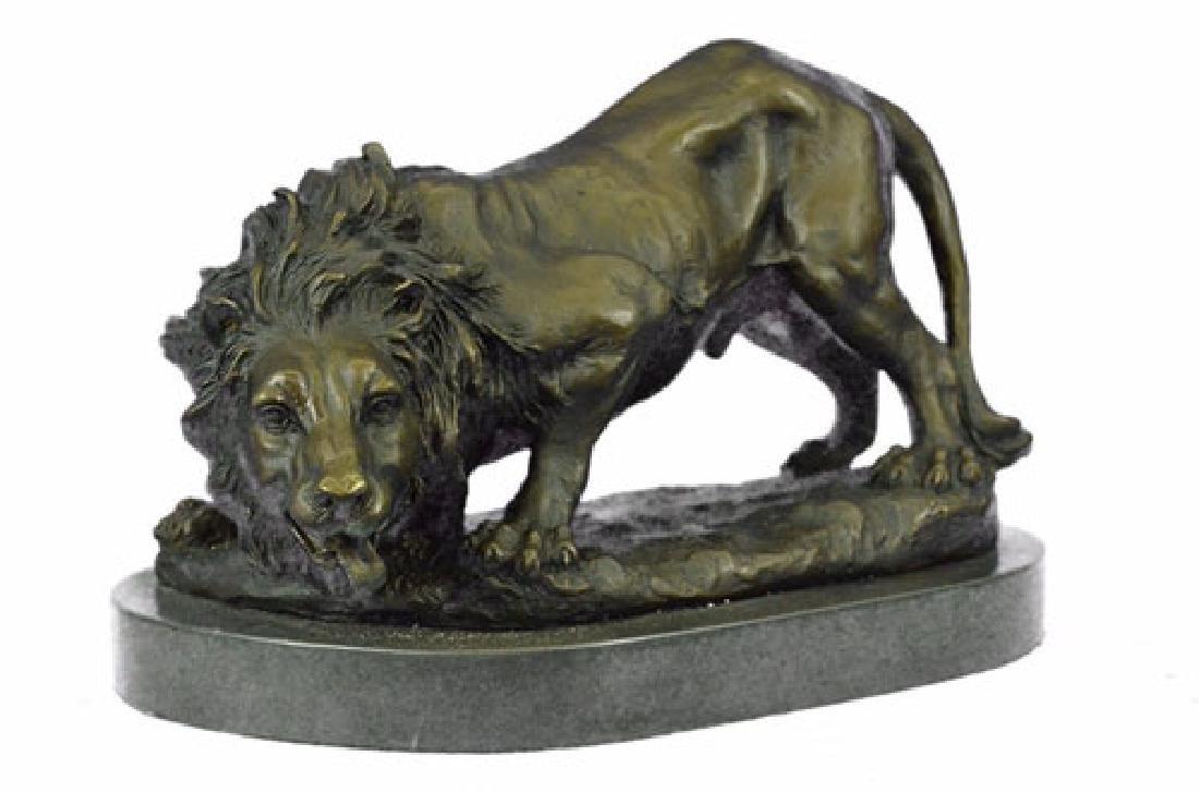 Wild Animal Edition African Lion Bronze Sculpture