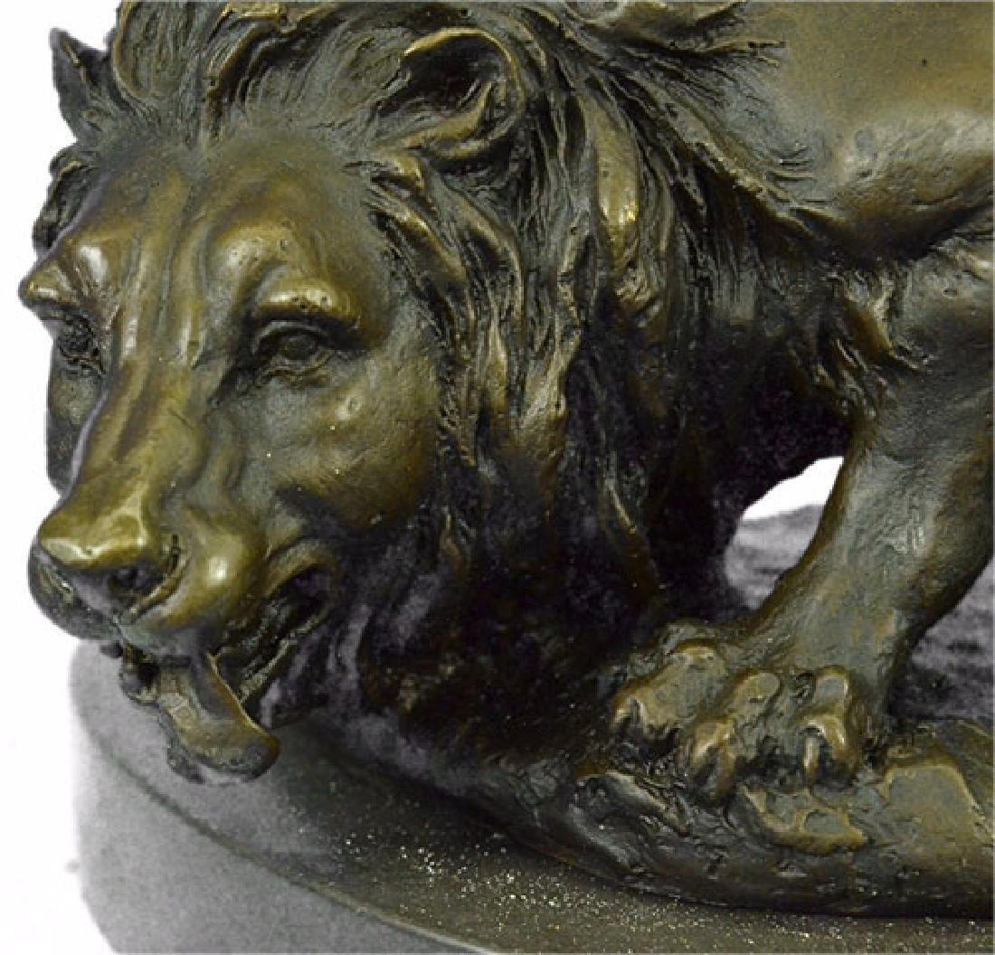 Wild Animal Edition African Lion Bronze Sculpture - 2