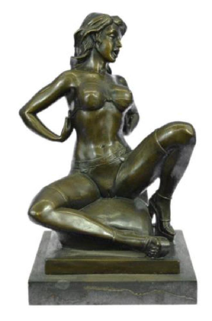 Erotic Nude Woman Bronze Statue
