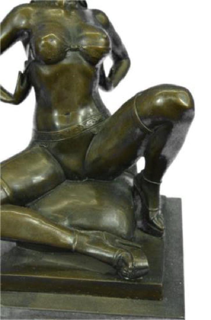 Erotic Nude Woman Bronze Statue - 3