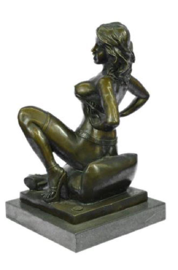 Erotic Nude Woman Bronze Statue - 6
