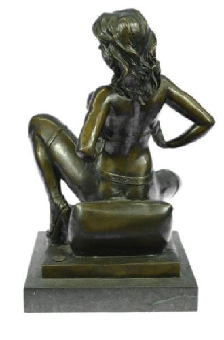 Erotic Nude Woman Bronze Statue - 7