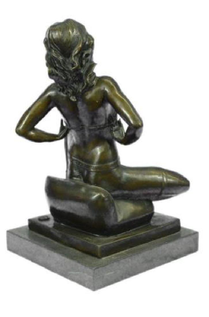 Erotic Nude Woman Bronze Statue - 8