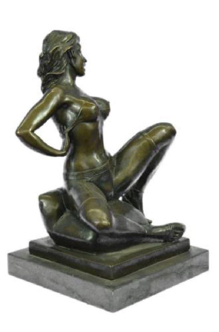 Erotic Nude Woman Bronze Statue - 9