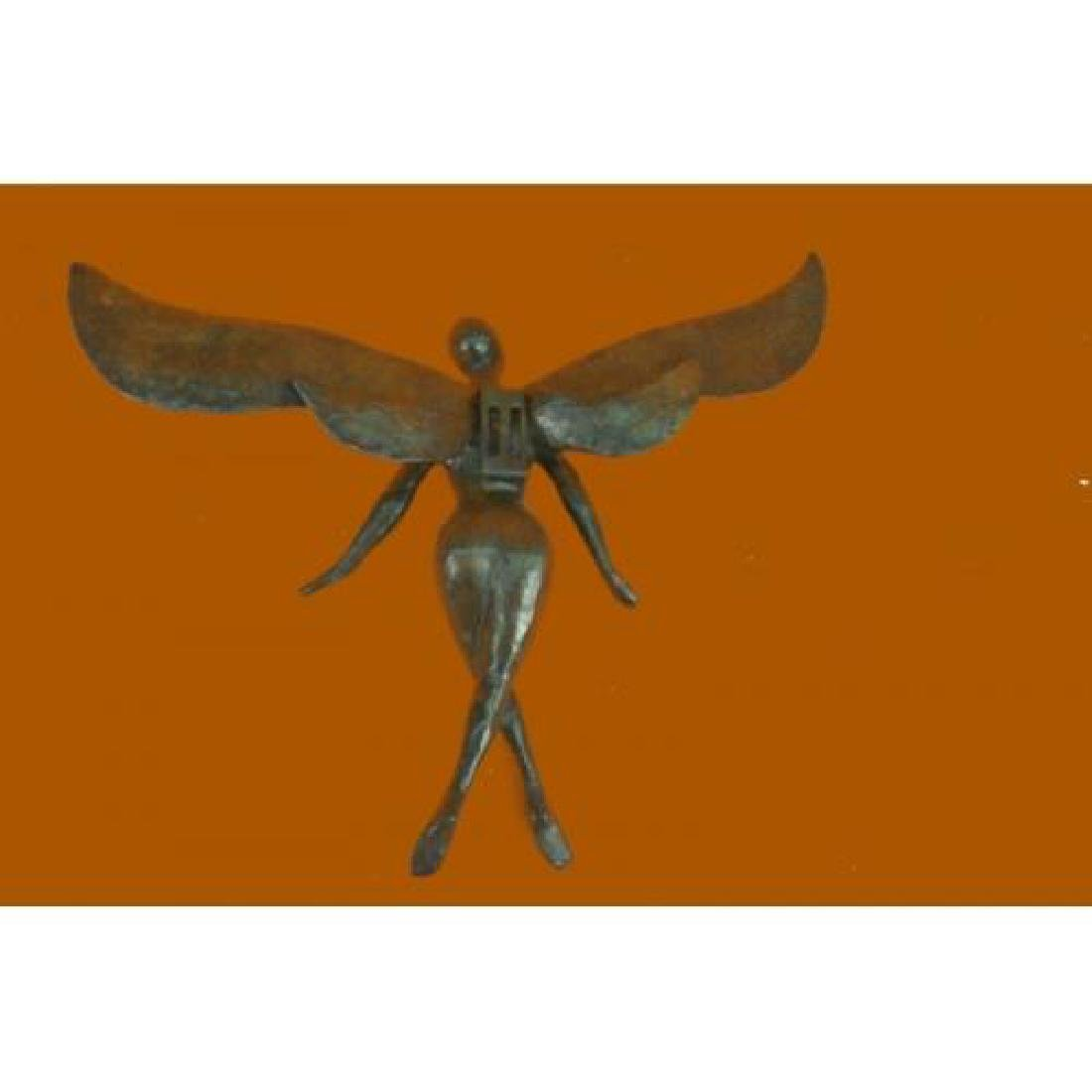Brown Patina Bronze Sculpture - 2