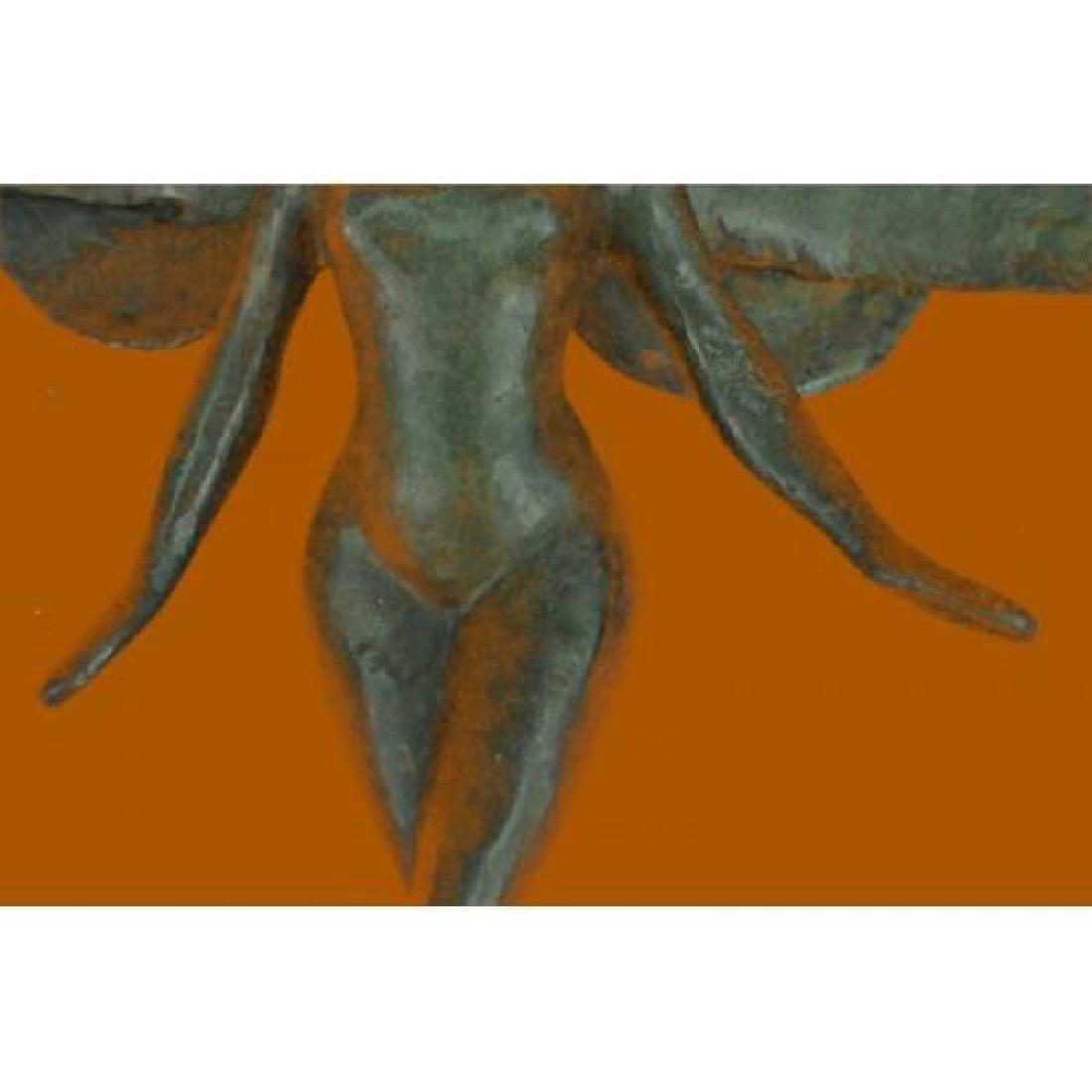 Brown Patina Bronze Sculpture - 3