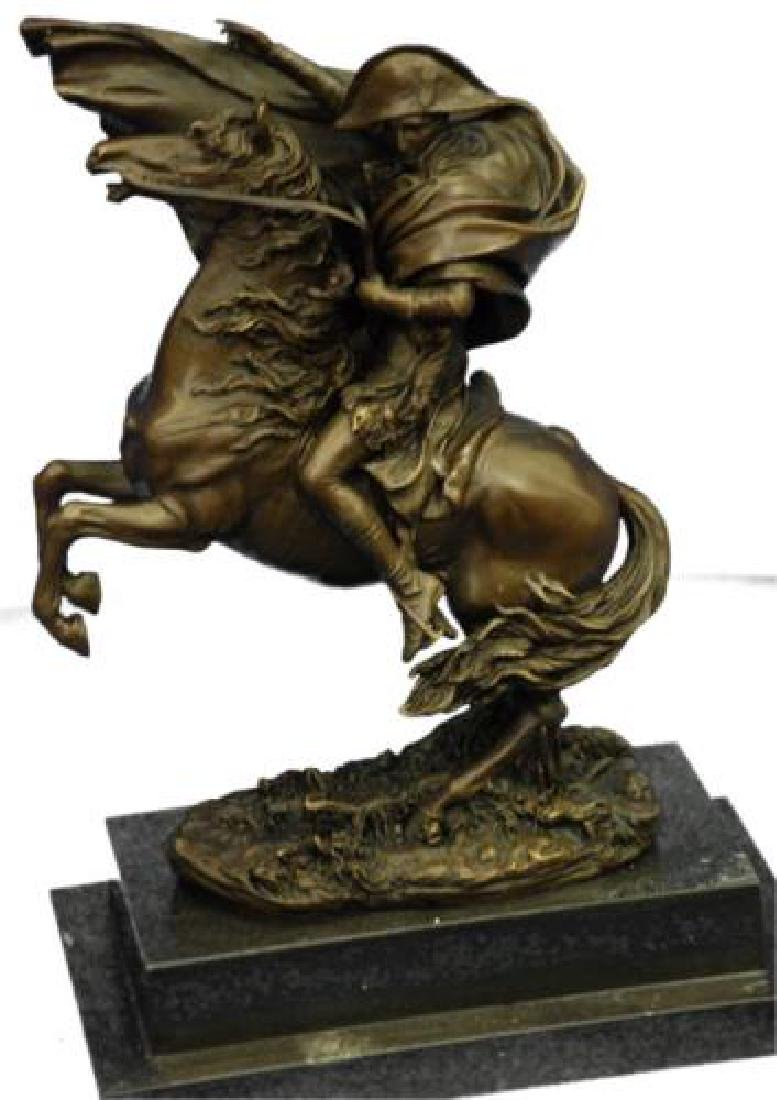 Napoleon Bonaparte Riding Horse Bronze Sculpture - 2