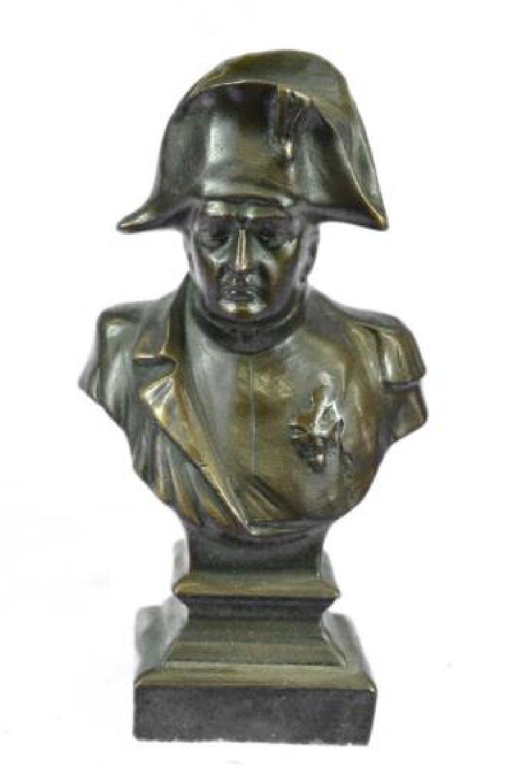 Napoleon Bonaparte France Emperor Bronze Bust Sculpture