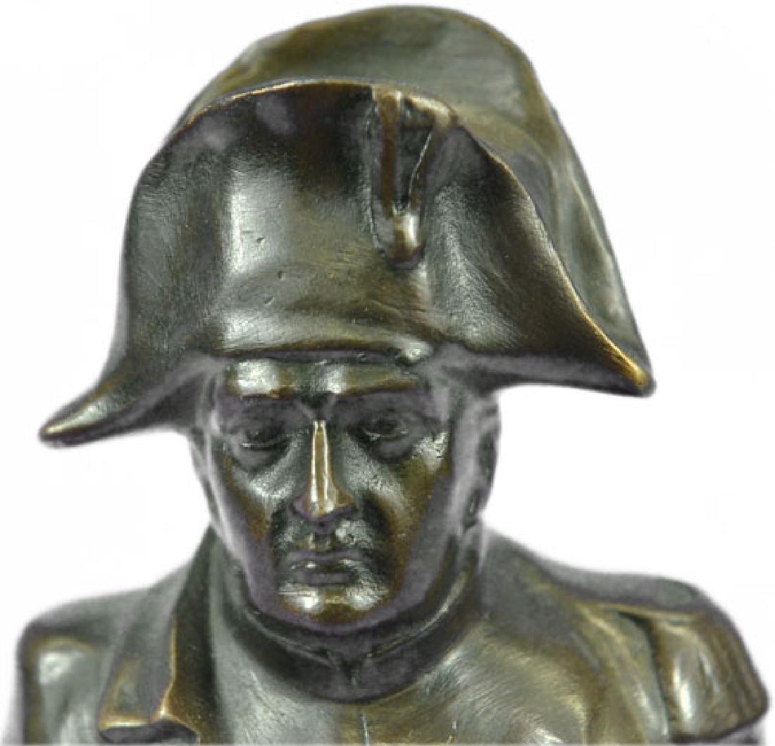Napoleon Bonaparte France Emperor Bronze Bust Sculpture - 2
